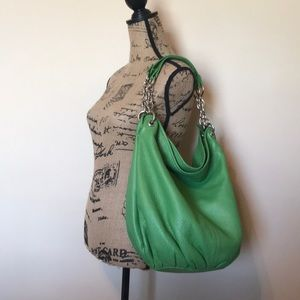 Bodhi Italian Leather Handbag In Lime Green